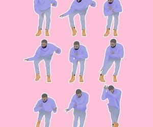 Drake, wallpaper, and pink image