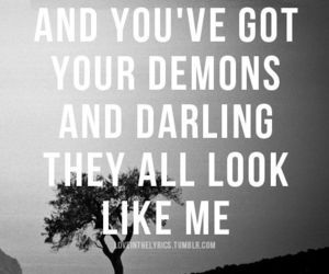 demons, quotes, and Taylor Swift image