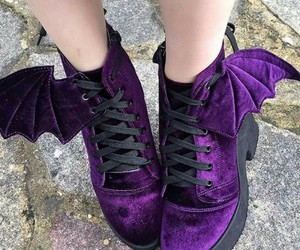 shoes, purple, and bat image