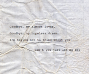 Lyrics, almost lover, and a fine frenzy image