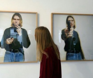 girl, kurt cobain, and tumblr image