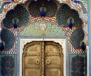door, art, and india image