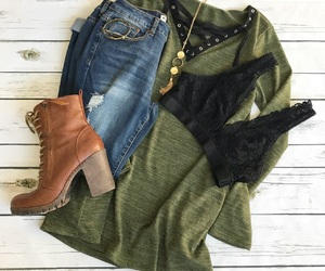 fashion, laceup, and olive image
