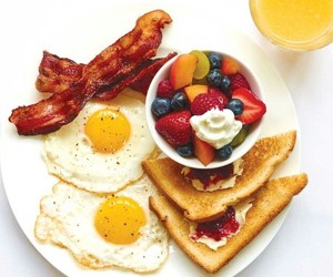 bacon, bread, and eggs image