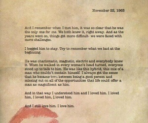 love, Letter, and kennedy image