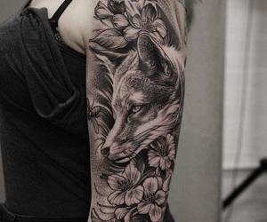 beautiful, flowers, and fox image