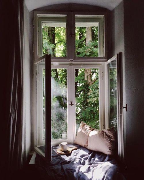 window, home, and bedroom image