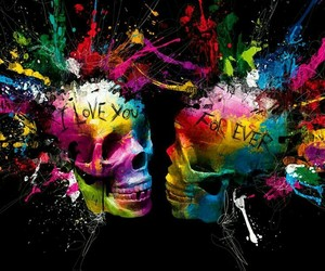 quotes and skull image
