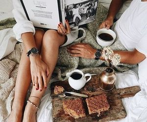 coffee, couple, and breakfast image