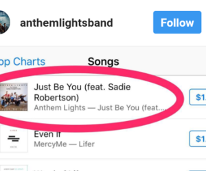 just be you, anthem lights, and sadie robertson image