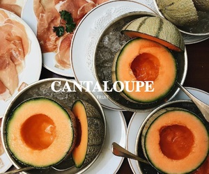 cantaloupe, fruit, and melon image