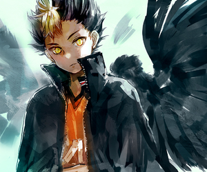haikyuu, anime, and nishinoya image