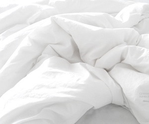 bed, messy, and white image