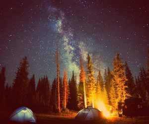 stars, camping, and night image