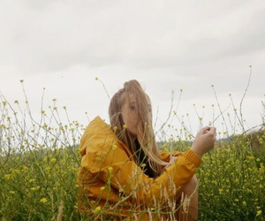 girl, yellow, and indie image