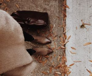 booties, october, and leaves image