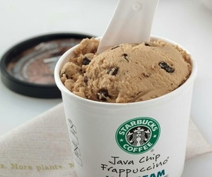 starbucks, ice cream, and food image