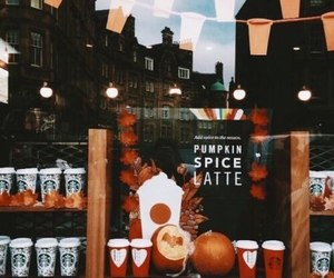 autumn, fall, and starbucks image
