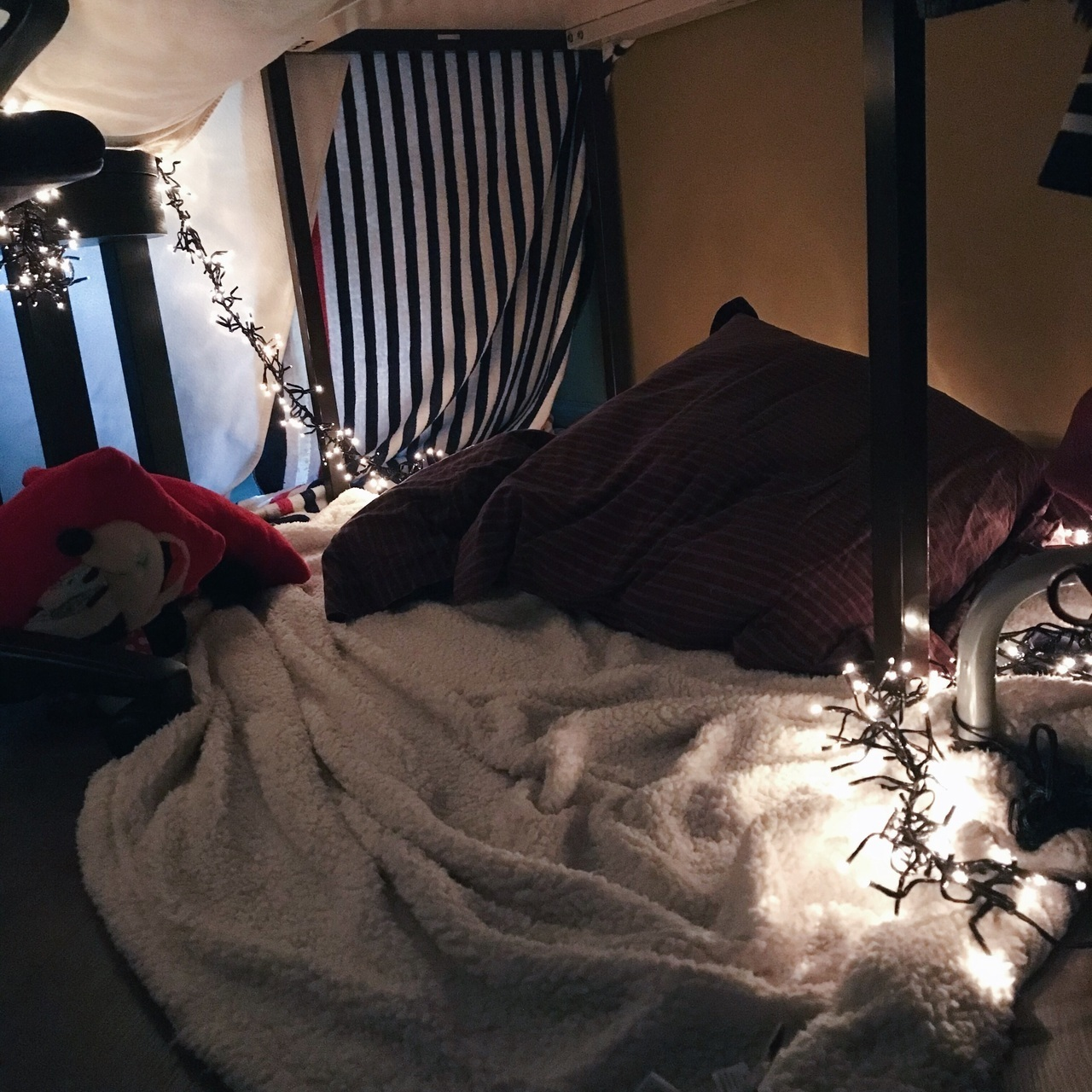 blankets, couple, and fort image