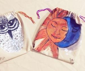 bag, handmade, and painting image