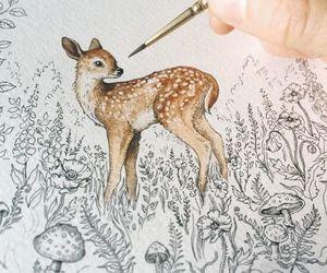 deer, art, and drawing image
