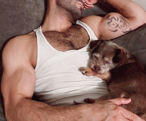bearded, hairy chest, and sexy image