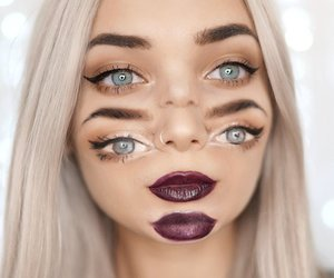 distortion, eyes, and makeup image
