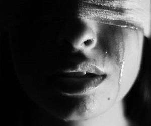 black, cry, and sad image
