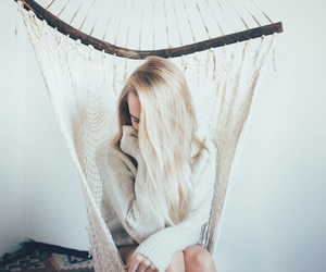 girl, white, and hair image