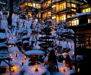 japan and winter image
