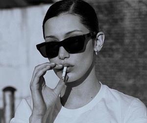 bella hadid, model, and cigarette image