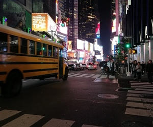 bus, nyc, and timesquare image