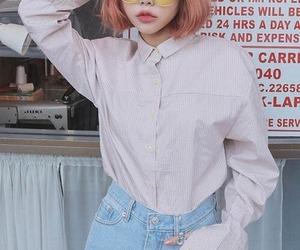 asian girl, korean, and pastel aesthetic image