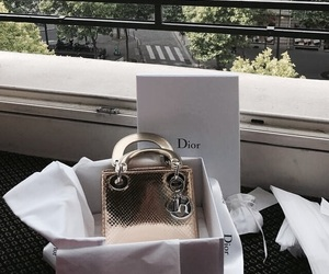 fashion, dior, and gold image