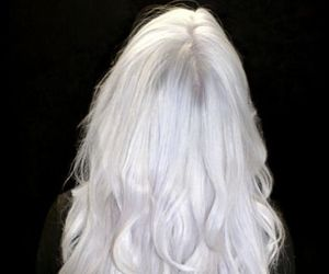 hair, girl, and white hair image