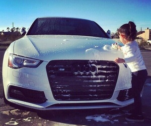 audi, car, and baby image