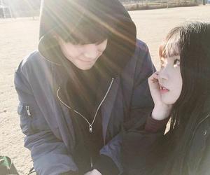 korean, ulzzang, and couple image