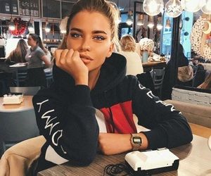 girl, beauty, and model image