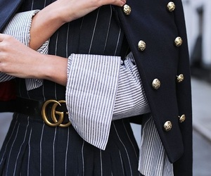 autumn, belt, and black jacket image