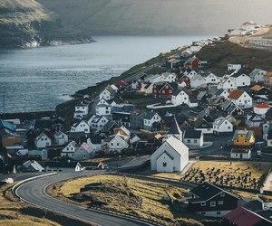 coast, iceland, and Houses image