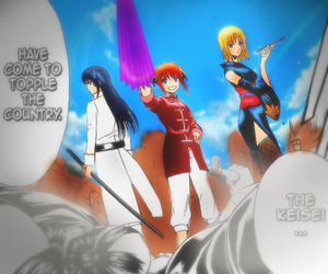 color, gintama, and girls image