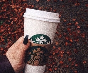 autumn and starbucks image