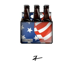 alcohol, beers, and flag image