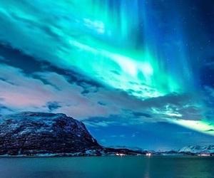 sky, nature, and northern lights image