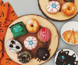 autumn, donuts, and Halloween image