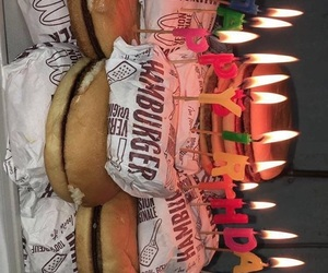 birthday, birthday cake, and burgers image