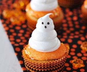 Halloween, cupcake, and food image