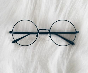 glasses, white, and accessories image