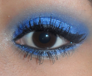 blue, make up, and cute image