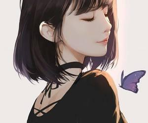 girl, anime, and art image